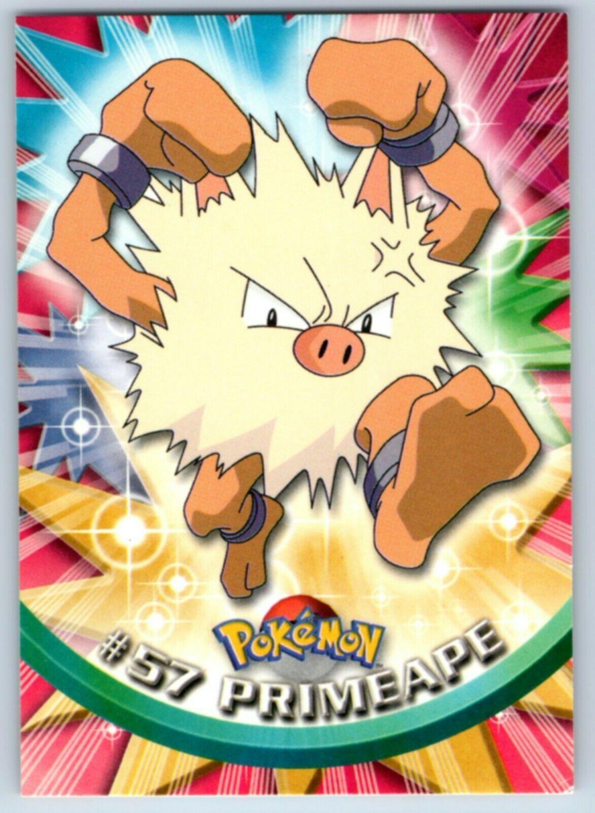 1999 topps nonholo 57 primeape tv animation pokemon