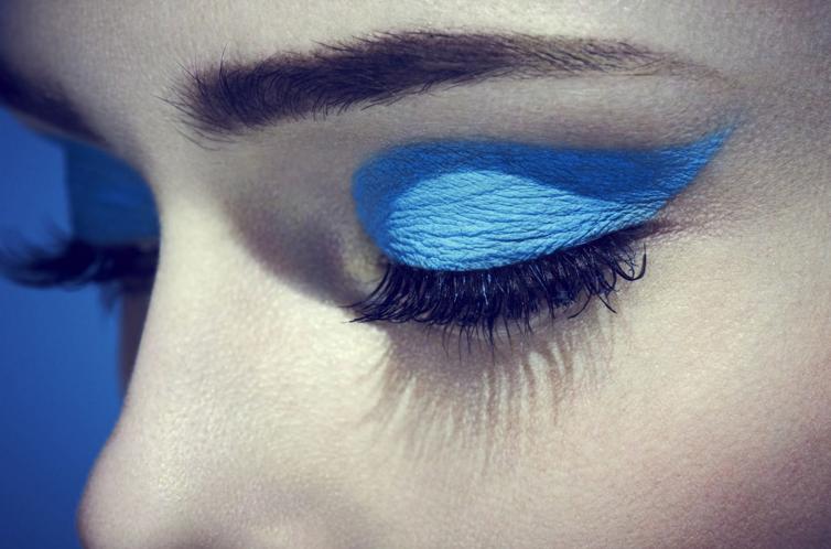 Blue days ... @cocorocha for @glassmagazine #beauty #makeup
