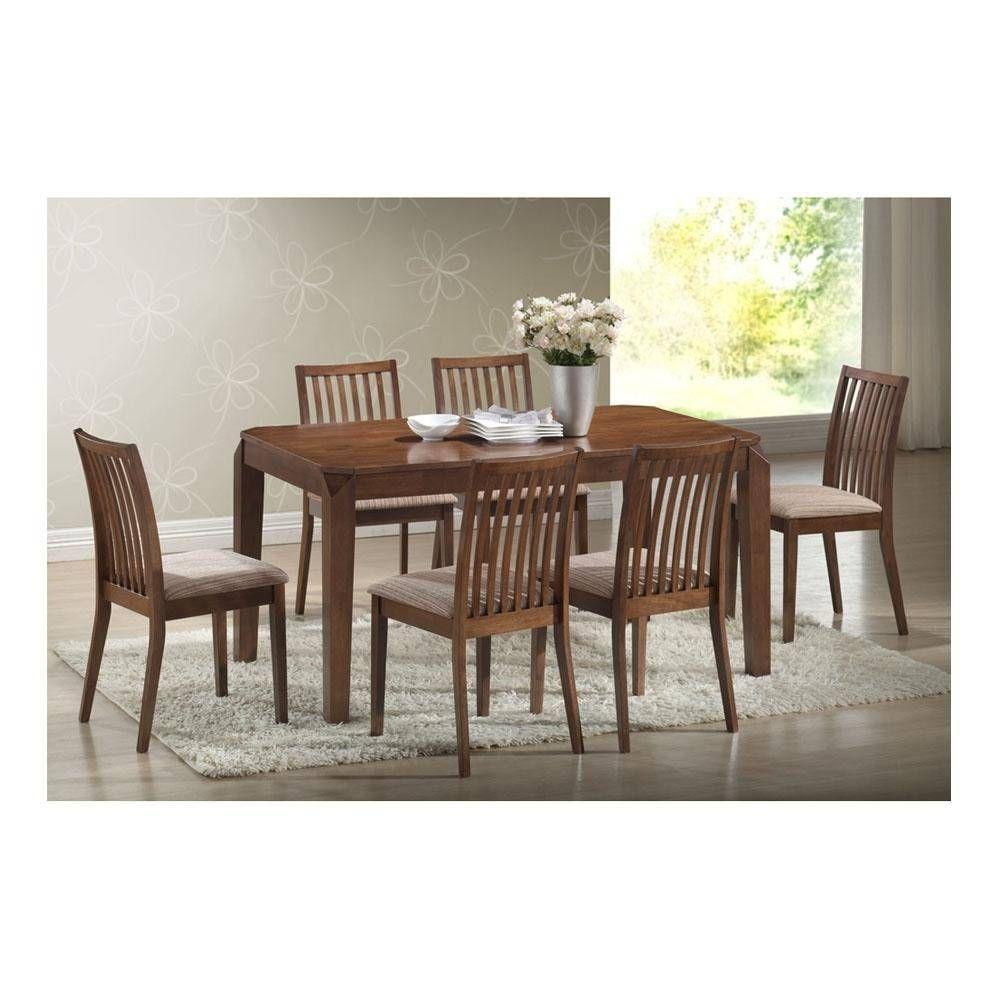 Comedor 6 sillas mst world romeo encino 00412891181017 for Muebles de cocina walmart