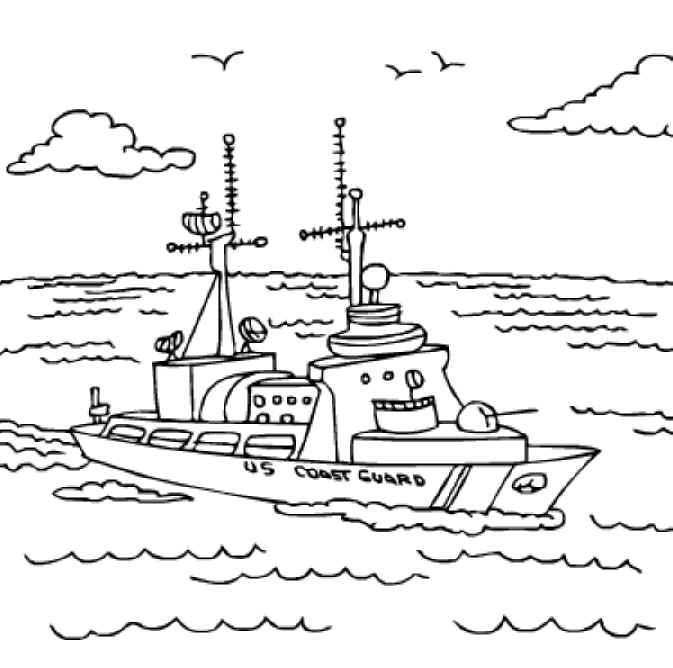 u s coast guard ships coloring pages - photo #1