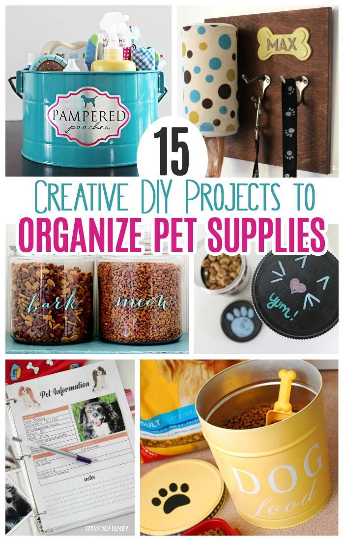 15 Creative Diy Projects To Organize Pet Supplies Pet Food Container Dog Organization Pet Food Storage