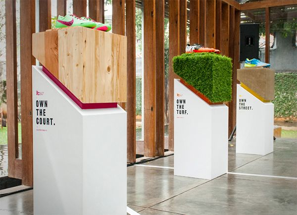 Exhibition Stand Designs For Sale : Media gathering for nike fc product launch point of