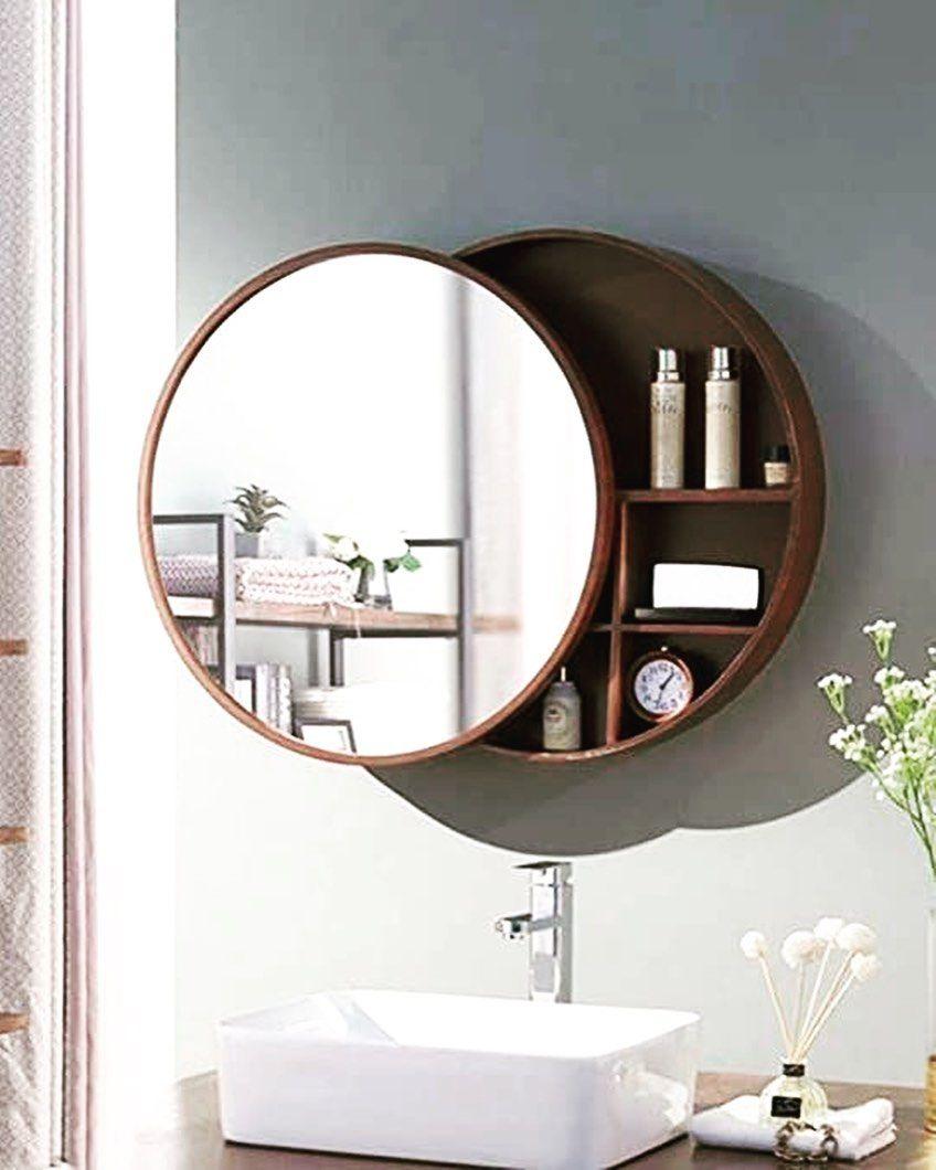Espejos Circulares En La Decoracion De Interior In 2021 Mirror Wall Bathroom Round Mirror Bathroom Bathroom Mirror Storage