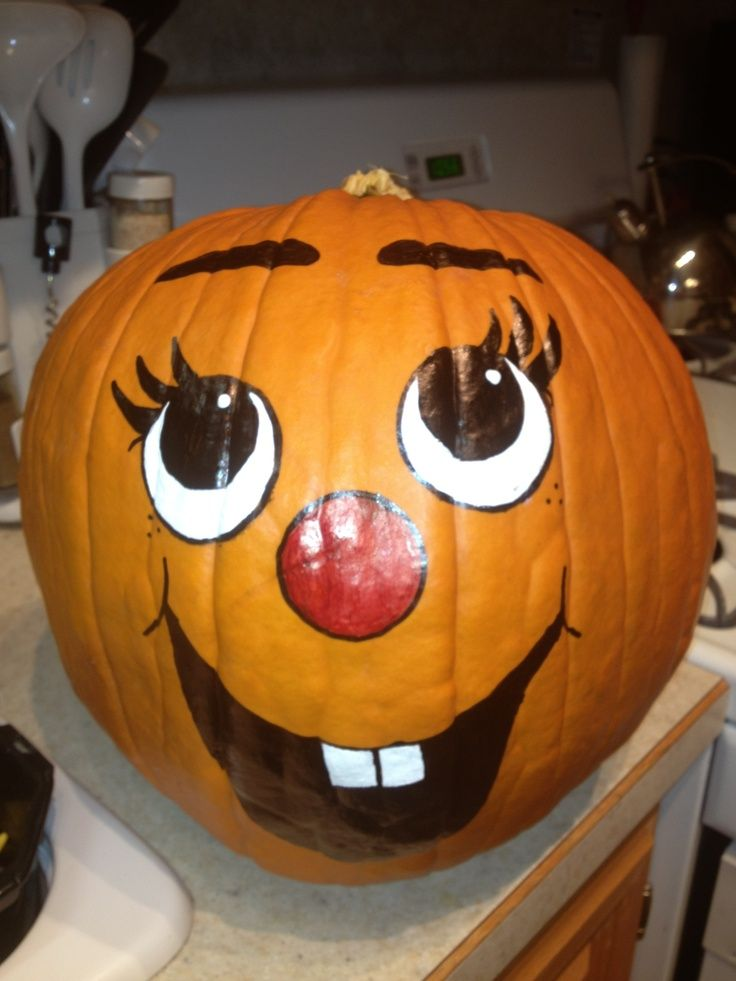 The Gallery For Painted Pumpkin Faces Ideas