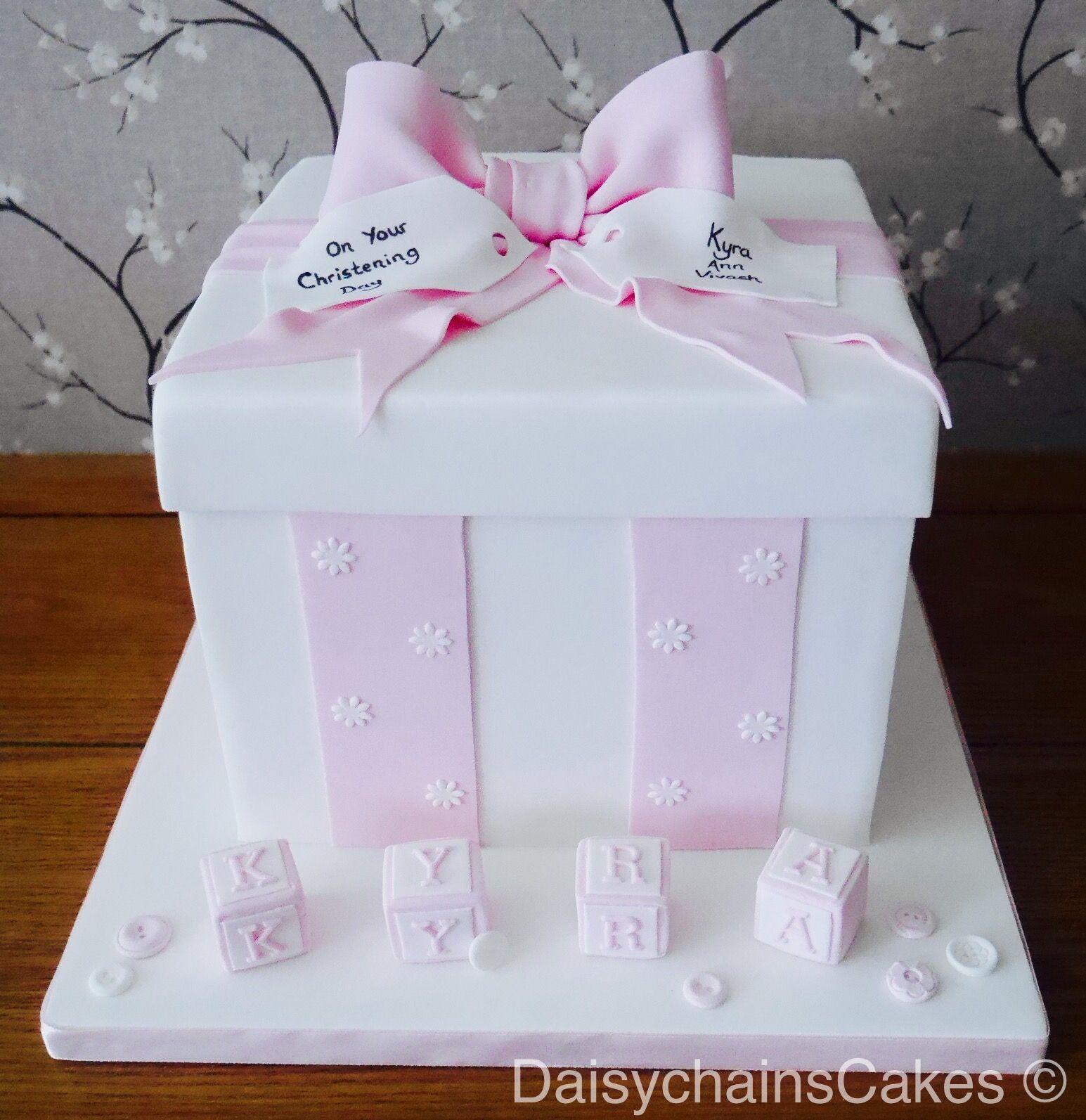 Christening gift box cake gift cake christening gifts