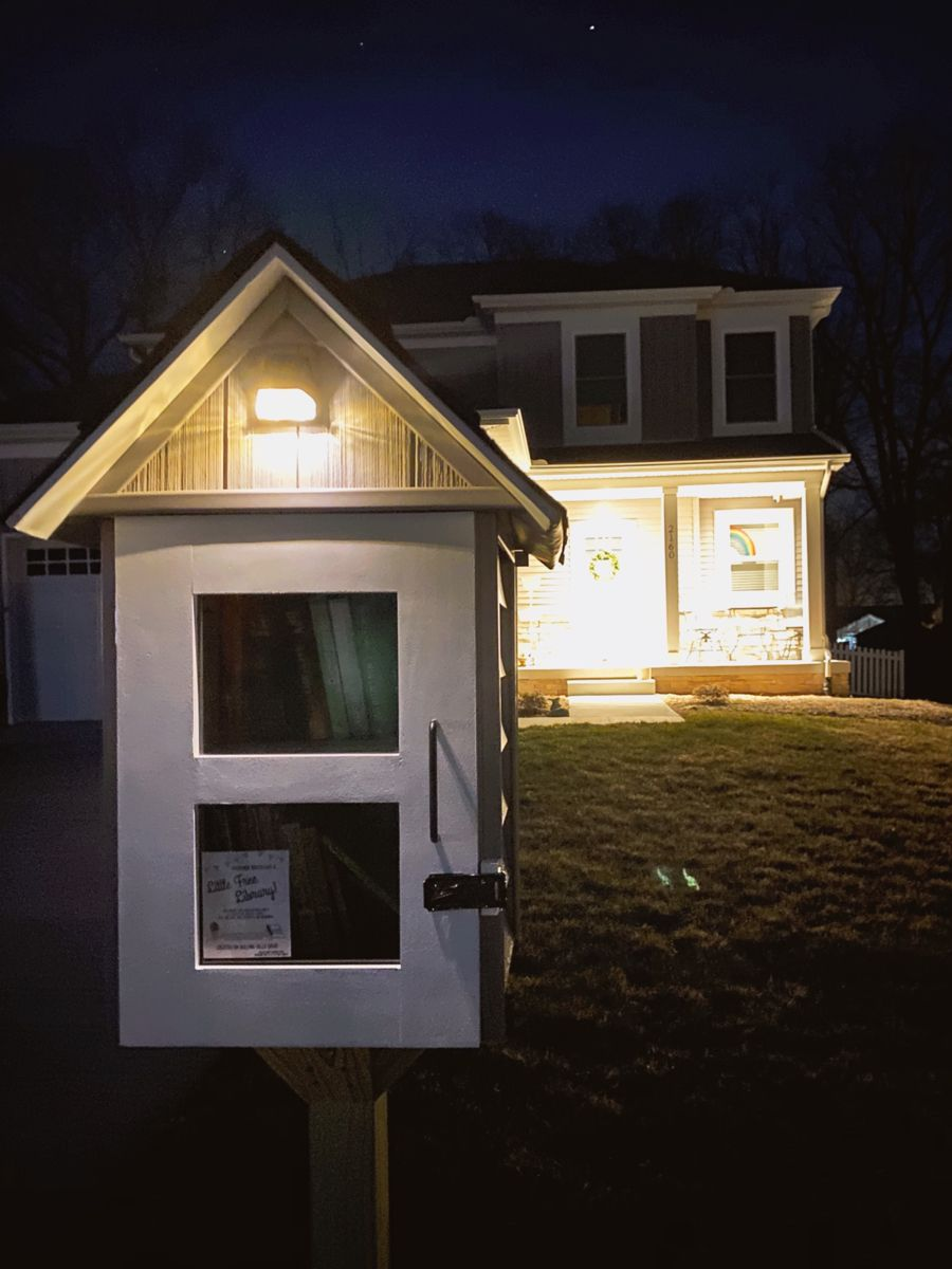 Little Free Library Solar Light In 2020 Solar Lights Little Free Libraries Outdoor Structures