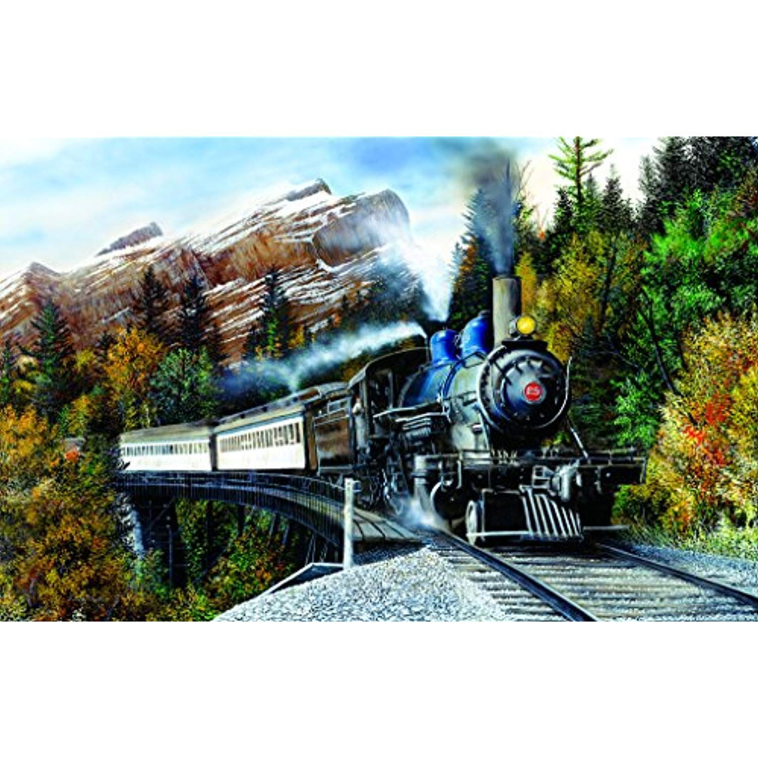 Autumn Mist 1000 pc Jigsaw Puzzle by SunsOut *** Check out