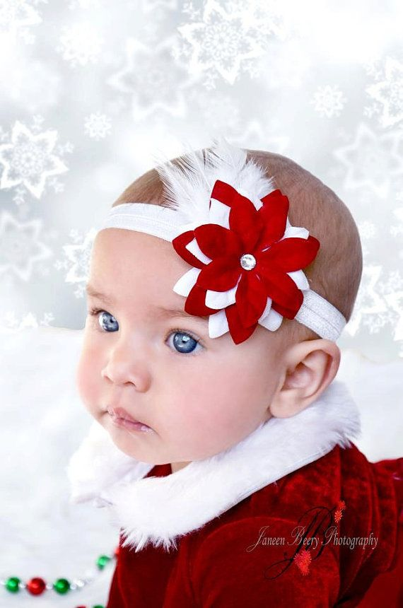Christmas Headband For Baby Girl.Christmas Headband Holiday Headband Baby Headband By
