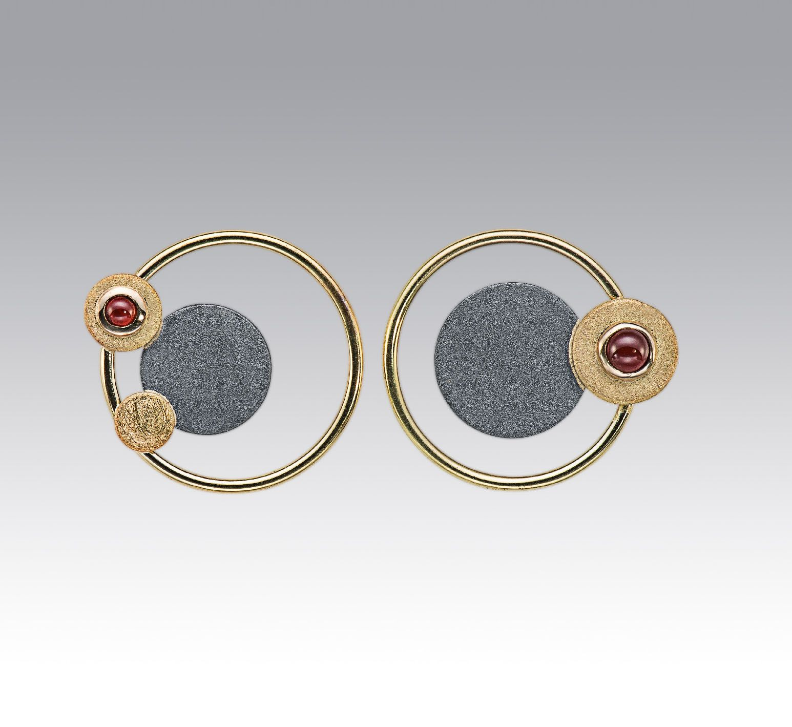 Janis kerman design oxidized sterling silver kt yellow gold
