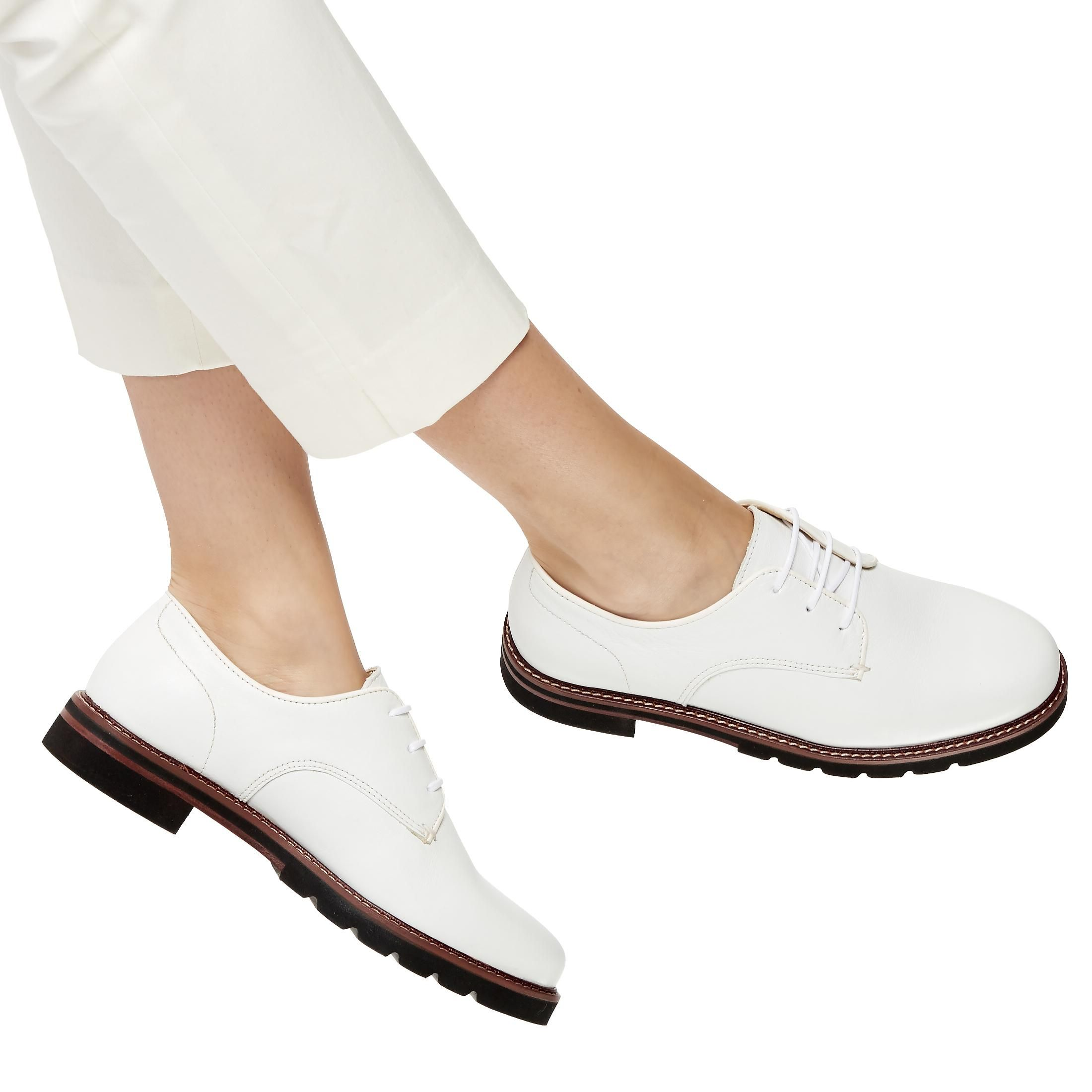 58fc468f2df FINNLY - Chunky Stacked Sole Lace-Up Shoe - white