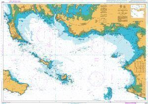 British Admiralty Nautical Chart 2823: Quiberon to Le Croisic