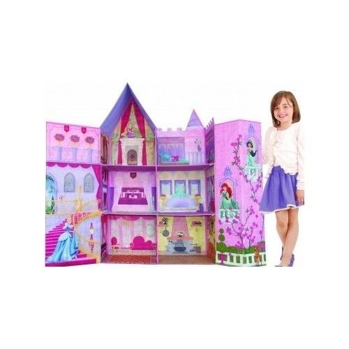 Disney Princess Foldable Castle Dollhouse Barbie Dolls Girl Toy Doll House Elsa  sc 1 st  Pinterest : disney princess mega castle playhut tent - memphite.com