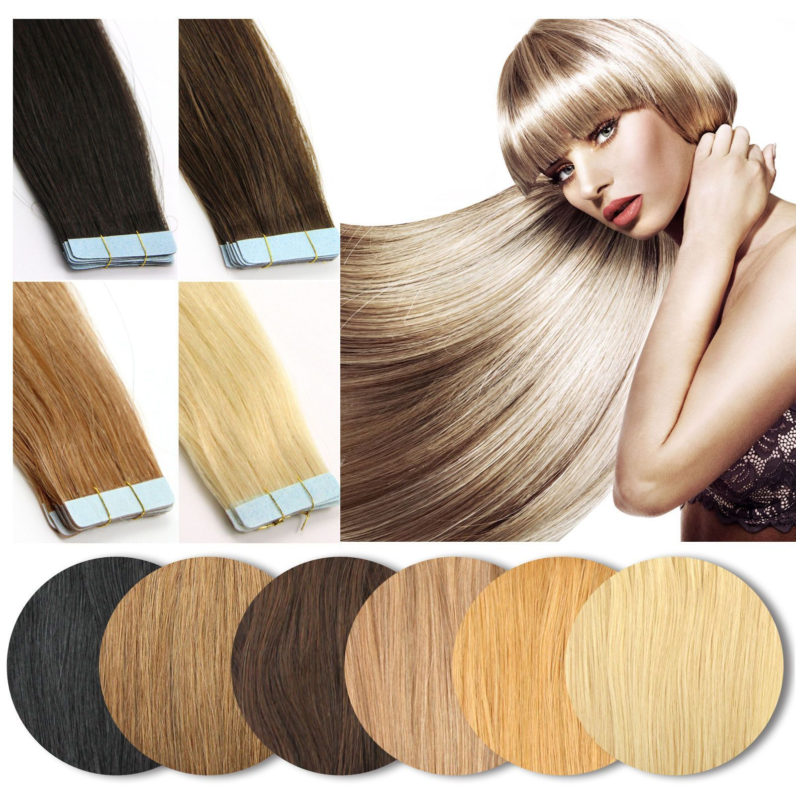 3 - Seamless 14-26Inch Pu Skin Weft Tape In Double Drawn Remy Human Hair  Extensions  ebay  Fashion b344d1cf1