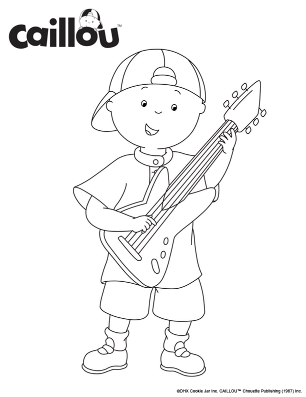 Print & Color - Rock N Roll Caillou Coloring Sheet! | Coloring Pages ...