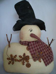 primitive snowman honey and me  | Primitive-Style-Snowman-Doll-Honey-amp-Me-Mr-Charles-C10147-snowmen ...