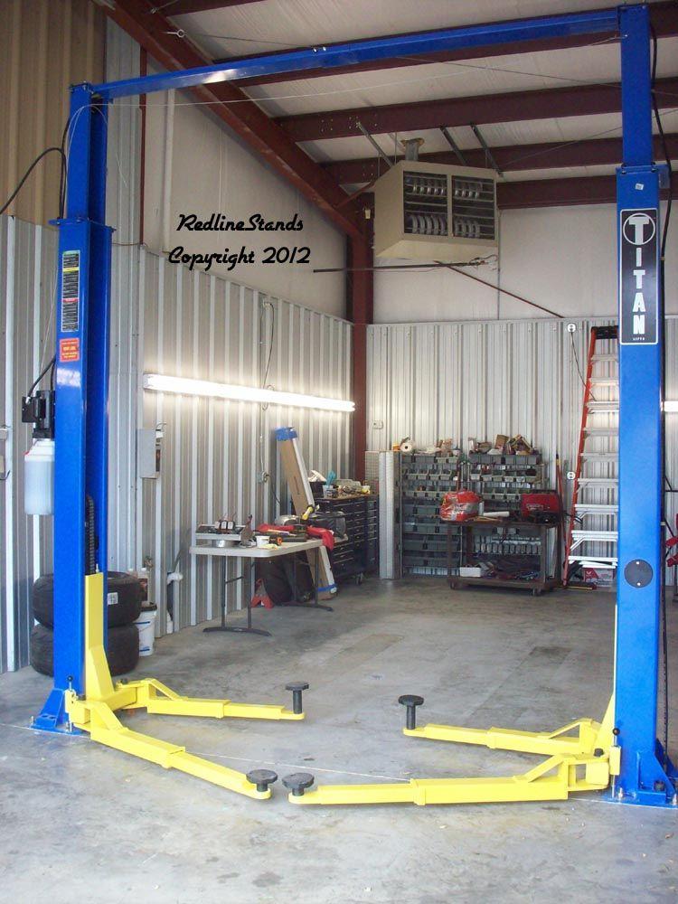Kernel 9K Lb Clearfloor 2 Post Auto Lift Garage car lift