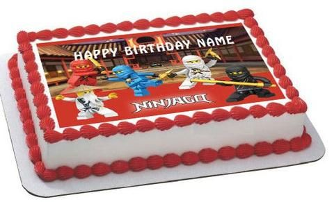 LEGO NINJAGO 1 Edible Birthday Cake Topper OR Cupcake Decor