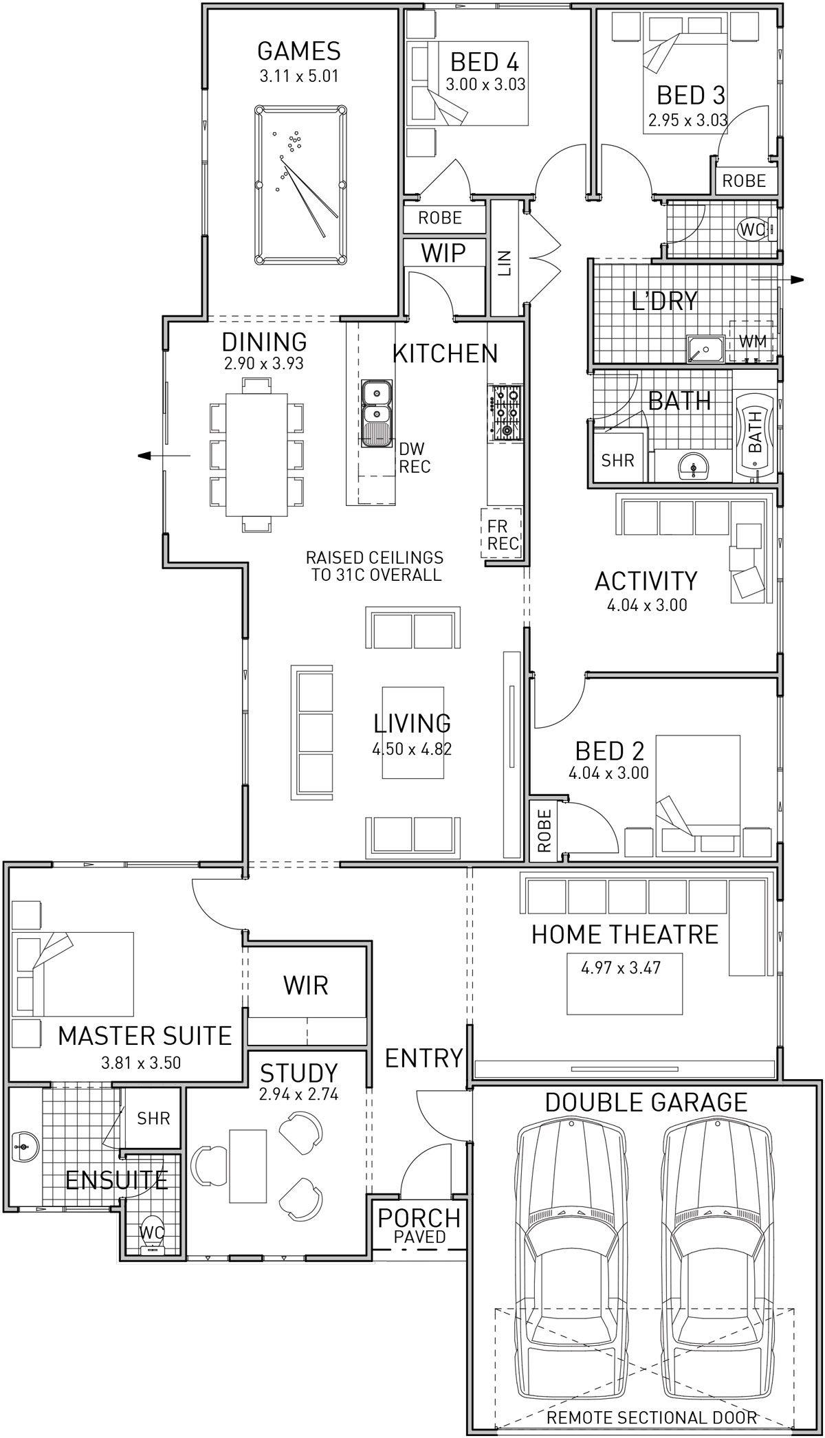 Shiraz Single Storey Home Design Foundation Floor Plan Wa My House Plans Craftsman Floor Plans House Design