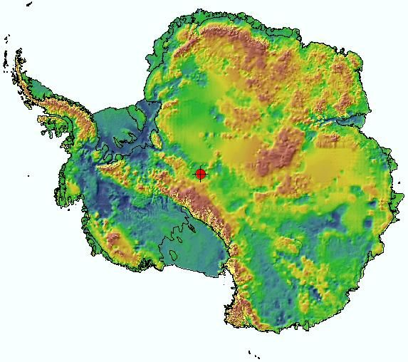 Antarctica Topography Map | Directionally Challenged | Pinterest
