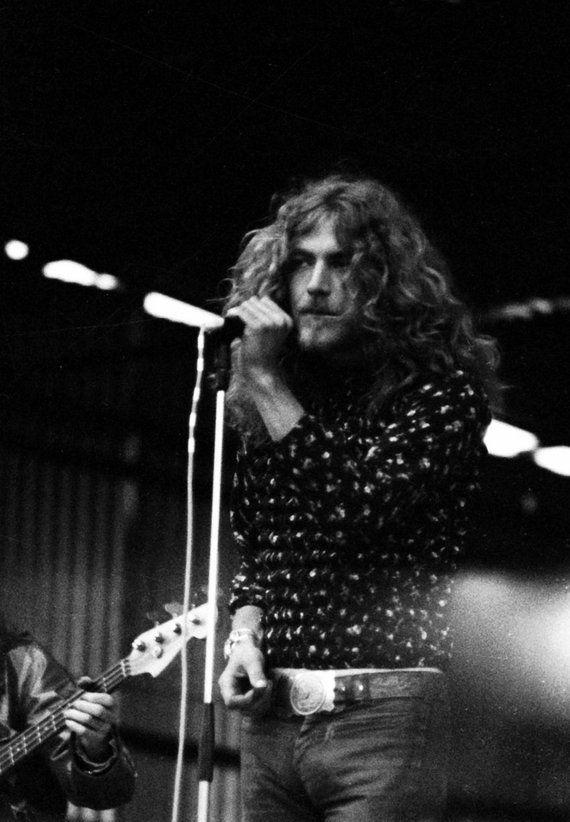 Robert Plant - Led Zeppelin - 1970 Bath Festival Live Concert - Custom Print B&W Kodak. Unpublished #robertplant