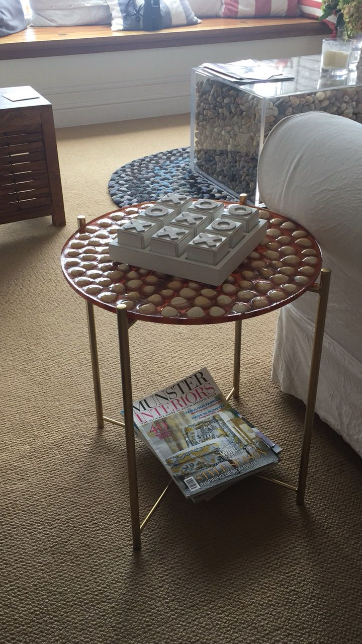 Ikea Gladom Hack Shell Table Made With Emoxy Resin Coffee Table Ikea Hack Table [ 1280 x 720 Pixel ]