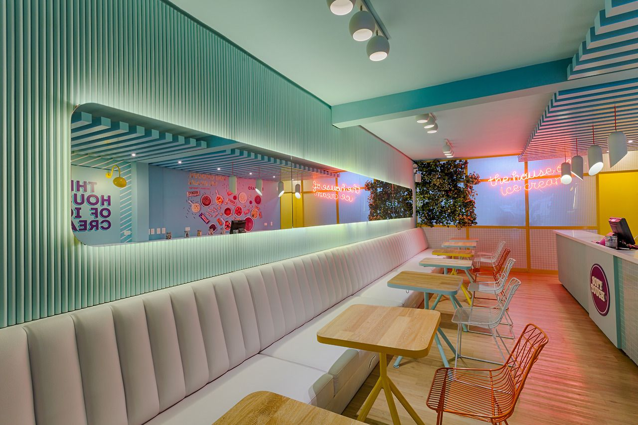 Soft Touch Interior Design By Plasma Nodo Traditional Ice Cream
