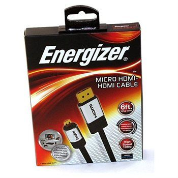 Energizer Micro HDMI-HDMI Cable 6ft High Speed 1080p Tablet Mobile Camcorders - #Buycom