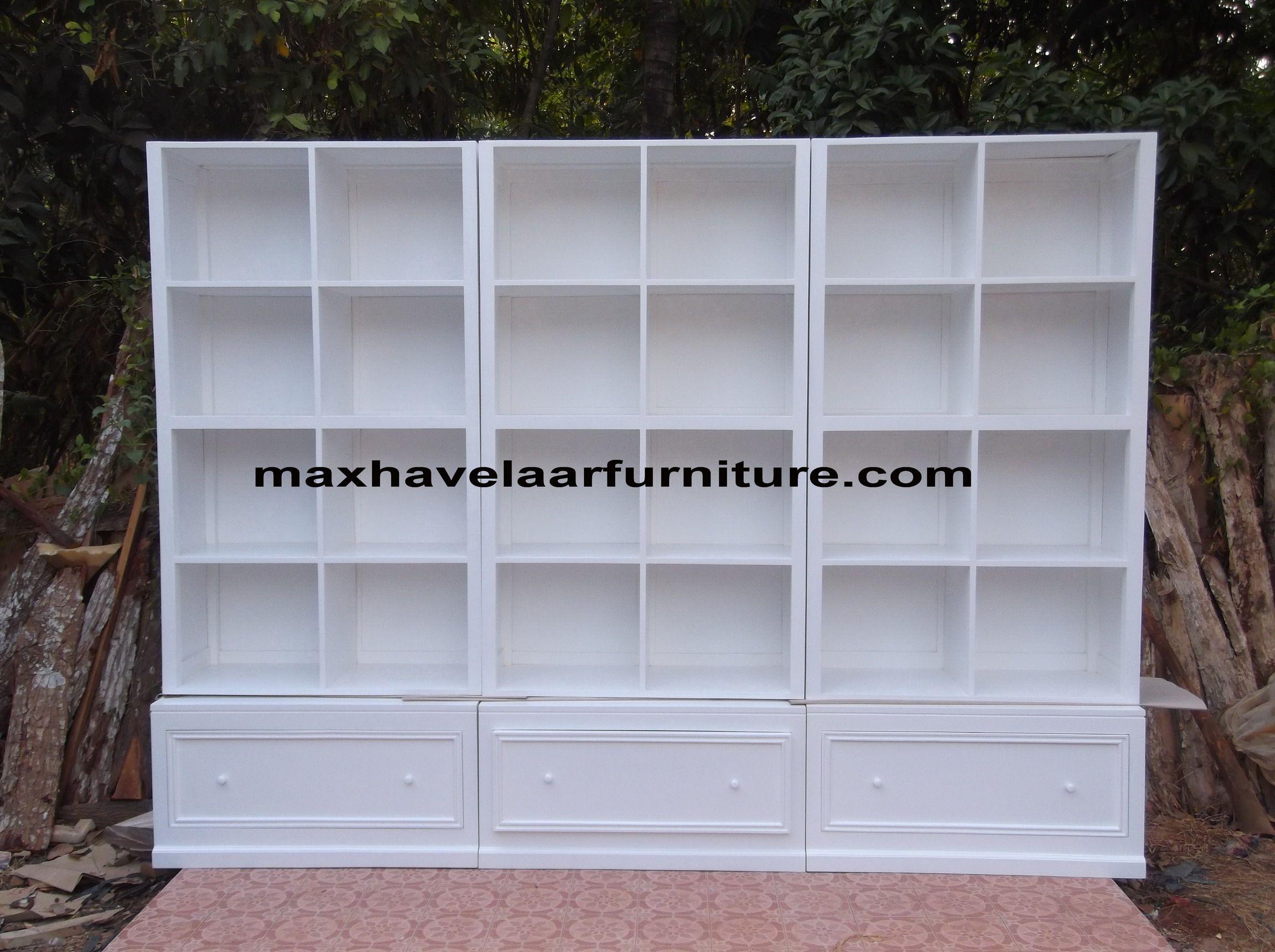 Rak Buku Putih Maxhavelaar Furniture Rak Buku Dan Lemari Hias  # La Gioconda Muebles