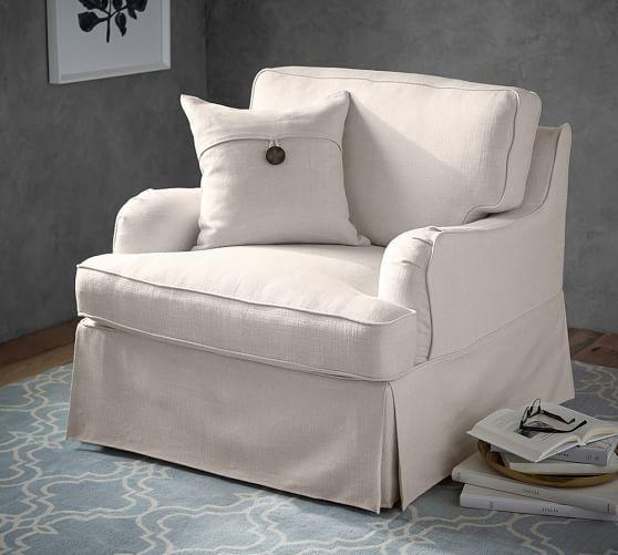 Slipcovered Sofa, Hawthorne English Arm Slipcovered Sofa