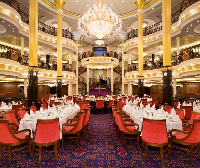 The Main Dining Room On Our Cruise Ship Just Beautiful *freedom Fair Allure Of The Seas Main Dining Room Menu Design Inspiration