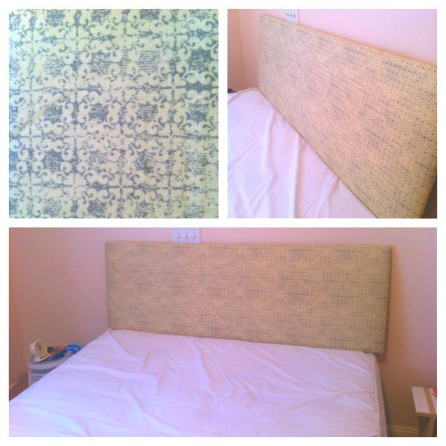 DIY headboard. Used foam-core board, quilt batting, fabric and a ... : heavy quilt batting - Adamdwight.com