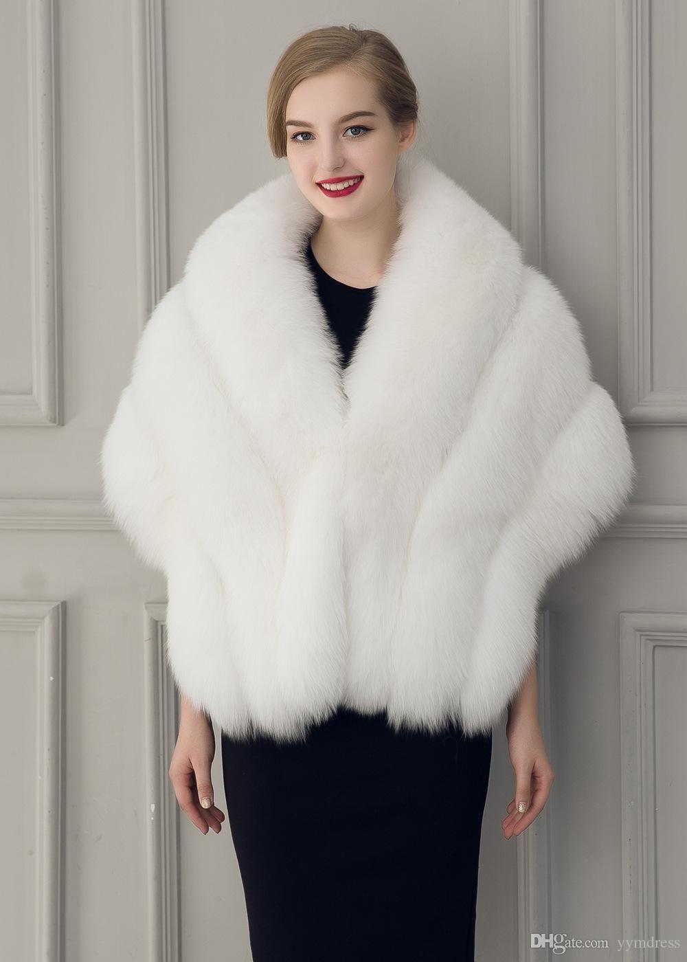 2021 2019 new warm faux fur bridal shawl fur wraps
