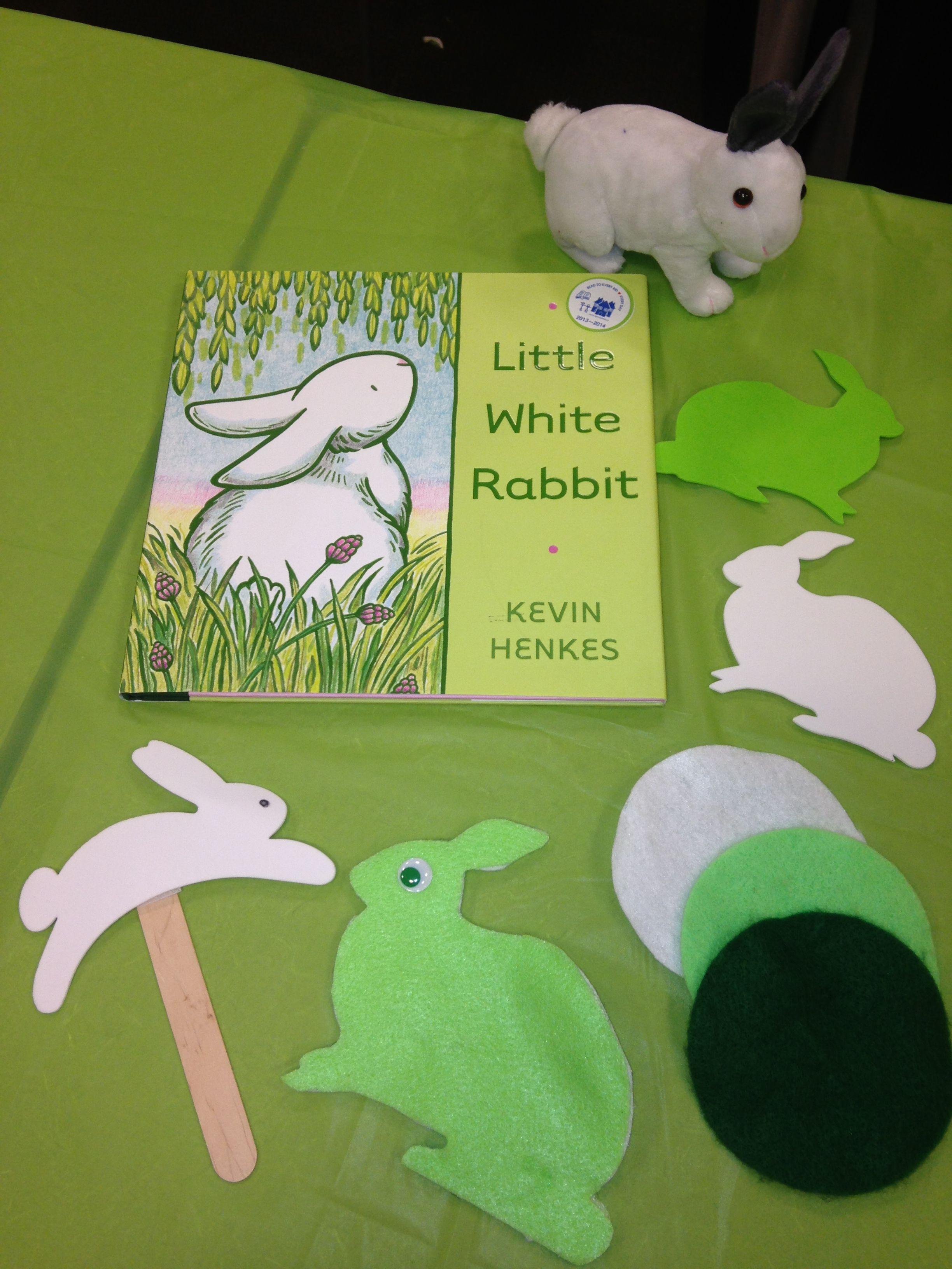 Litte white rabbit props from the Make & Take Workshops October 2013