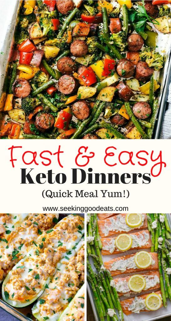 Fast and Easy Keto Dinner Ideas (Lazy Keto Meals for Busy Nights) images