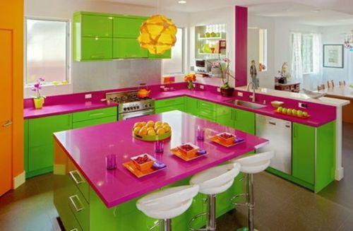 farbgestaltung in der k che bunte ideen f r mehr spa beim kochen bunt pinterest. Black Bedroom Furniture Sets. Home Design Ideas
