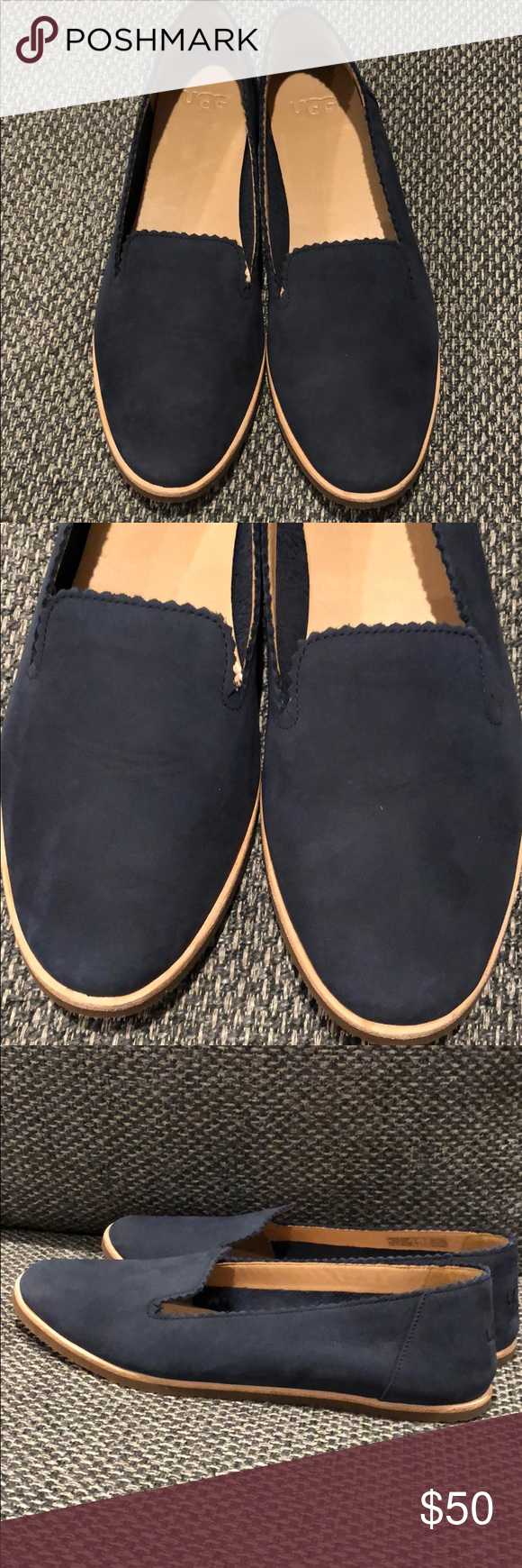 64ee69929 UGG Vista Slip-On Flat Box included without original packaging Soft nubuck  in a loafer
