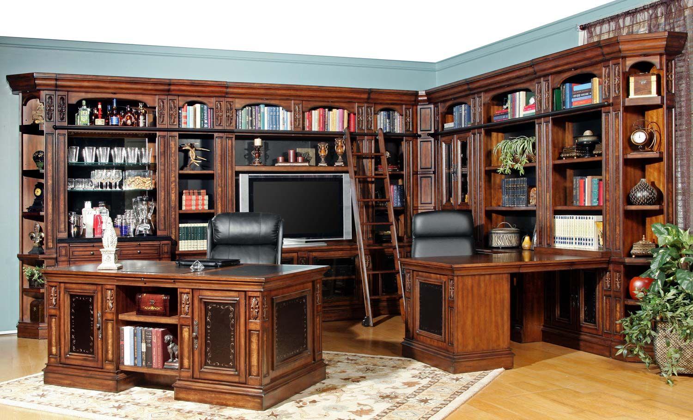 Exceptional Parker House Leonardo Library Wall Unit Bookcase Set 2 LEO#WALL UNIT SET