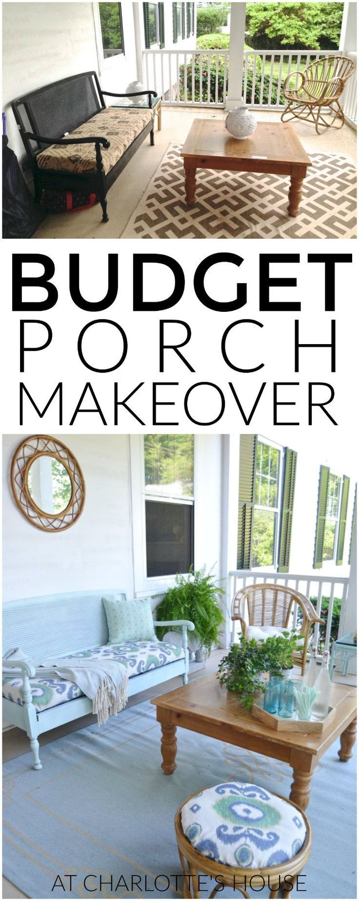 This Porch Got An Entire Makeover Thanks To Some Elbow Grease And Some Simple Thrift Store Finds Porch Makeover Decor Diy Outdoor Decor