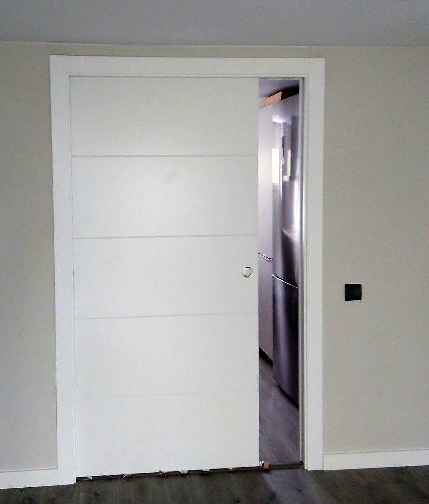 Puertas de madera macizas lacadas blanco corredera ancho for Precio puertas macizas lacadas en blanco