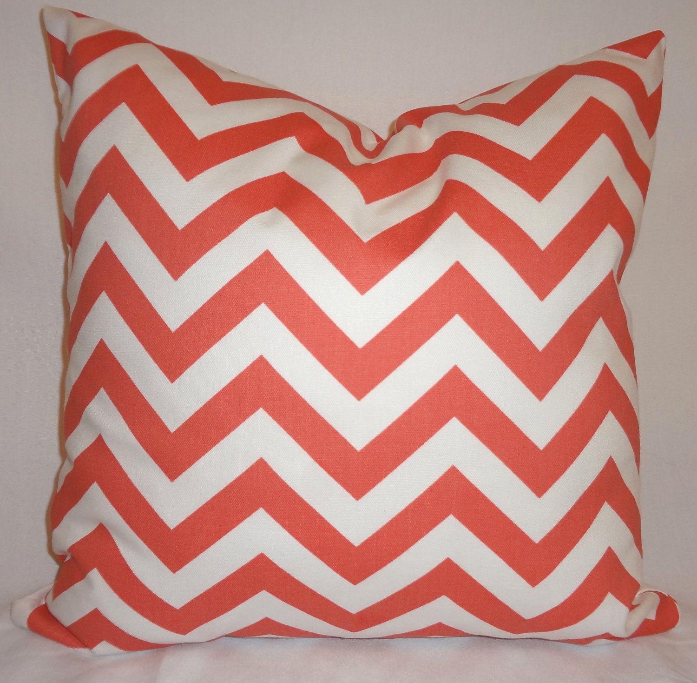 One C White Zig Zag Chevron Print Decorative Pillow Cover 18x18