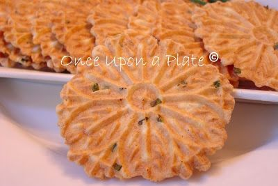 Once Upon a Plate: Parmesan-Chive Pizzelles
