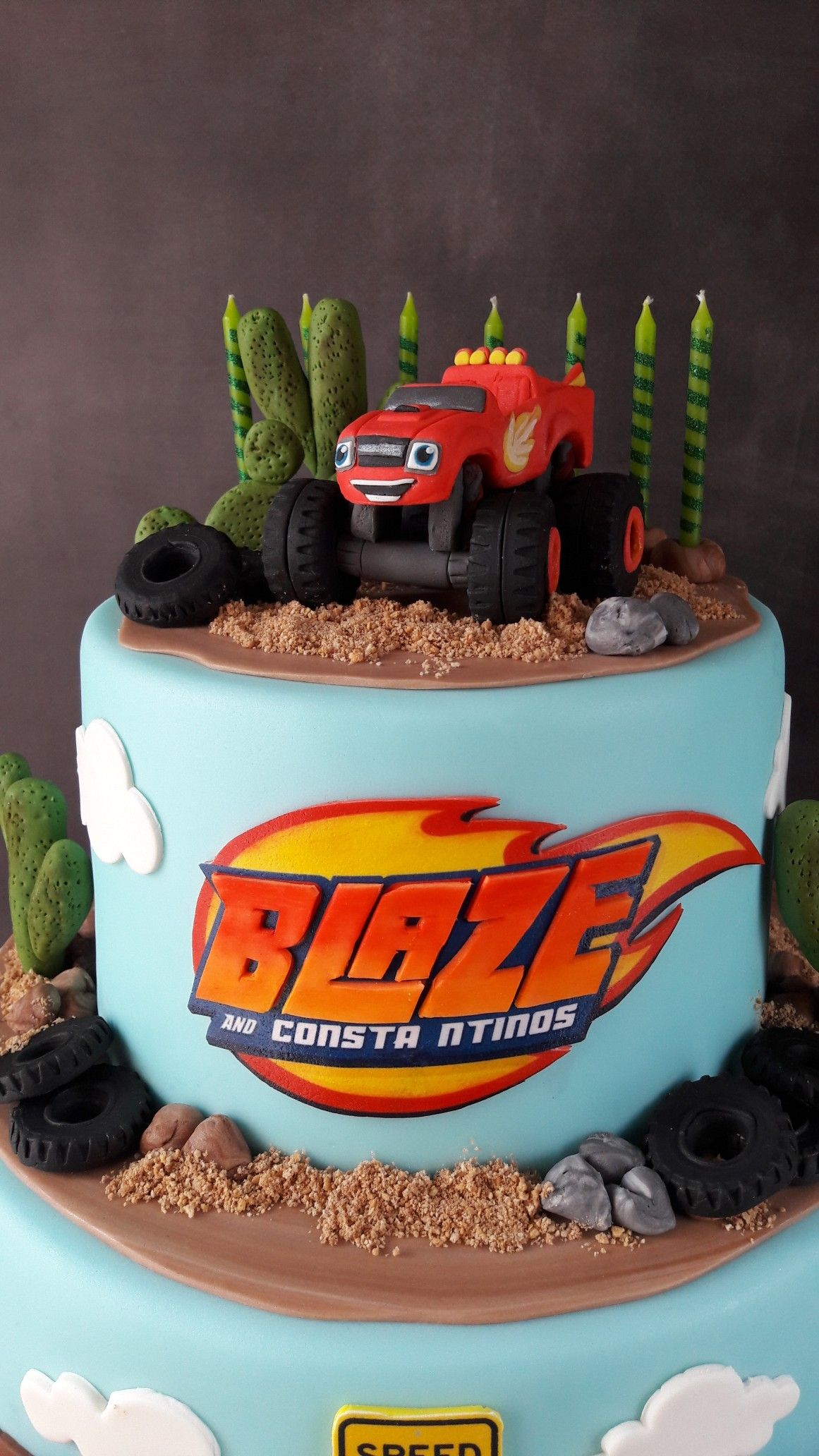 Blaze And The Monster Machines Cake With Images Blaze