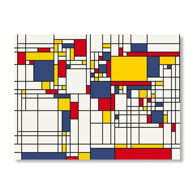 Mondrian world map by michael tompsett wall art 5499 this would mondrian style world map abstract map of the world canvas art print inspired by dutch painter piet mondrian gumiabroncs Image collections
