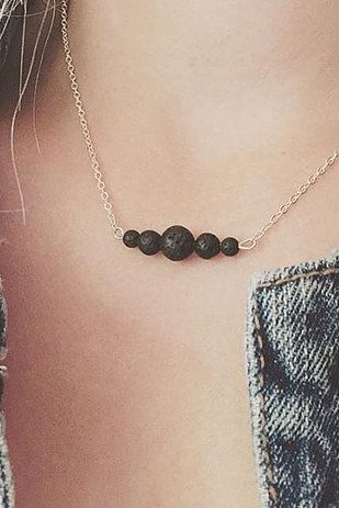 Photo of This lava stone necklace that can absorb therapeutic essential oils: