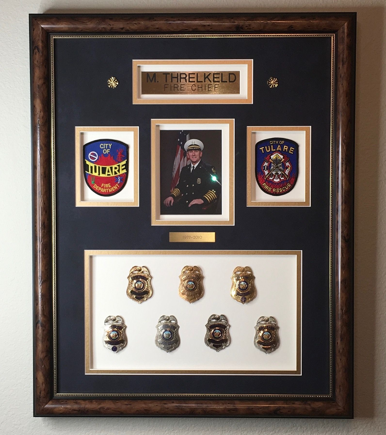 Firefighter Shadow Box, Badge Frame, Firefighter Retirement Gift ...