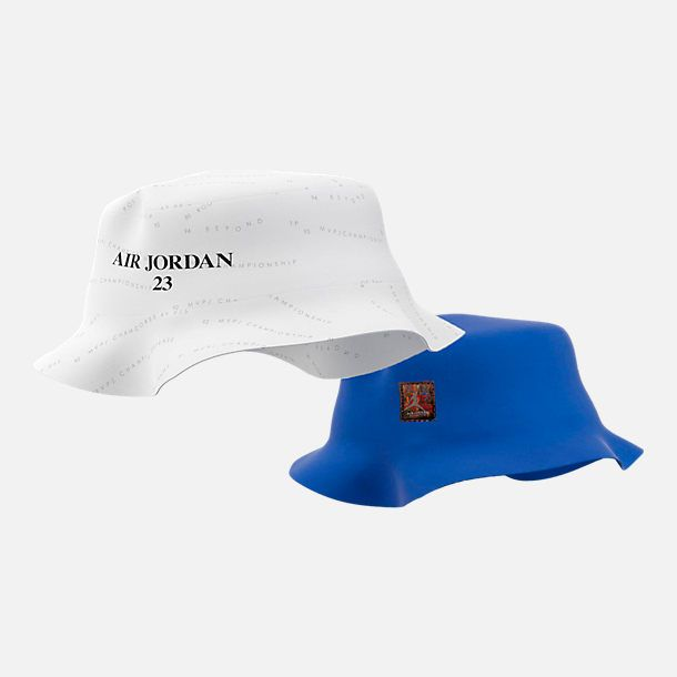 48f2316c73873 ... czech front view of air jordan retro 10 accolades bucket hat in white  hyper royal black