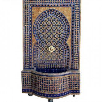 Dieser In Harmonischen Farben Abgestimmte Mosaik Brunnen Aus Marokko  Verleiht Ihrem Wohnraum Eine Ganz Besondere Exklusivität