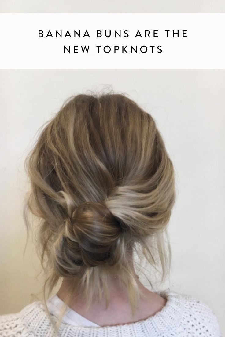 trendy hair bun styles we re calling it banana buns are the new topknots hair 6092