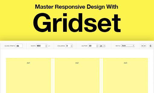 Master Responsive Web Design With Gridset Web Design Web Design Tips Great Website Design