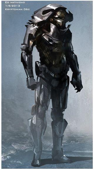 Man of Steel concept art puts Zod in more alien armor | Armor concept, Man of steel, Concept art